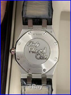 Audermars Piguet Ladies Diamond Set Royal Oak On Stainless Steel