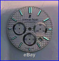 Genuine Audemars Piguet Royal Oak Chronograph Silver/White AP Dial 2000s