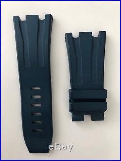 Genuine Audemars Piguet Royal Oak Offshore blue rubber strap, 30mm x 24mm
