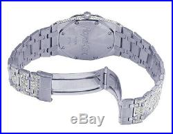 Ladies Audemars Piguet Royal Oak 35MM S. Steel Pink Dial Diamond Watch 12.5 Ct