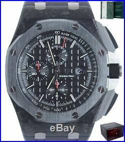 MINT Audemars Piguet Royal Oak 44mm Carbon Black Watch 26400AU. OO. A002CA. 01