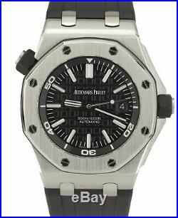 MINT Audemars Piguet Royal Oak Offshore Diver Black 15703ST. OO. A002CA. 01 Watch
