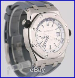 MINT Audemars Piguet Royal Oak Offshore Diver White EXHIBITION 15710ST Watch