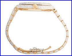 Mens 41 MM Audemars Piguet Royal Oak 18k Rose Gold Watch with VS diamond 25.5 Ct