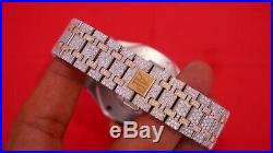 Mens 41 MM Audemars Piguet Royal Oak 2 Tone Rose Gold 3100 Diamonds Flower Set
