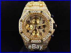 Mens 42 MM Audemars Piguet Royal Oak Offshore 18k Yellow Gold with 38 Ct Diamond