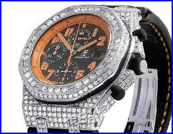 Mens 42 MM Audemars Piguet Royal Oak Offshore Volcano Diamond Watch (12.5 Ct)
