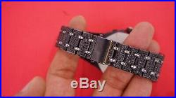 Mens AP Royal Oak Chronograph 42 mm Steel Watch 30 Cts Black & White Diamonds