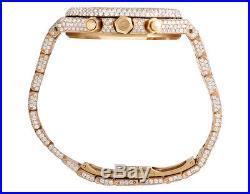Mens Audemars Piguet 18K Rose Gold Royal Oak 41MM Full VS Diamond Watch 31.75 Ct