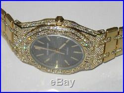 Mens Audemars Piguet Royal Oak 18K Gold Automatic Diamonds Everywhere