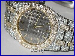 Mens Audemars Piguet Royal Oak 18k Gold Diamonds Everywhere