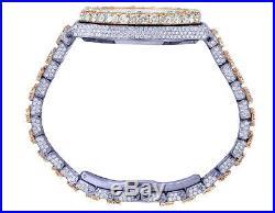 Mens Audemars Piguet Royal Oak 41MM 18K Rose Gold/ Steel Diamond Watch 36.85 Ct