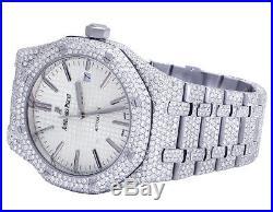 Mens Audemars Piguet Royal Oak 41MM Stainless Steel VS Diamond Watch 31.5 Ct
