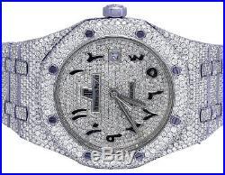 Mens Audemars Piguet Royal Oak 41MM Steel VS Arabic Dial Diamond Watch 33 Ct