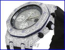 Mens Audemars Piguet Royal Oak Offshore 42MM Rubber Strap Diamond Watch 12.5 Ct