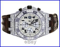 Mens Audemars Piguet Royal Oak Offshore Safari 42MM Diamond Watch 8.5 Ct