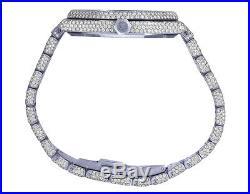 Mens Ladies Audemars Piguet Royal Oak 37MM Midsize VS Diamond Watch 23.45 Ct