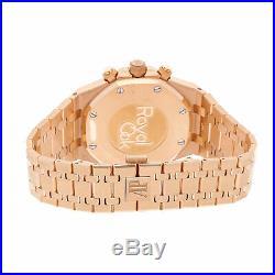 New Audemars Piguet Royal Oak Chrono Rose Gold Mens Watch 26331OR. OO. 1220OR. 01