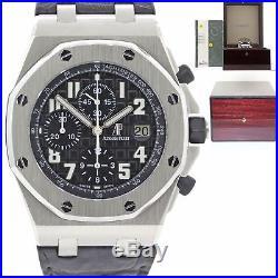 PAPERS Audemars Piguet Royal Oak Offshore 26020ST. OO. D101CR. 01 Chrono Watch N8