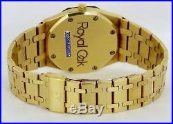 RARE MINT Audemars Piguet Royal Oak 35mm Champagne 18K Yellow Gold 4100 2123