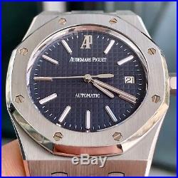 UNPOLISHED Audemars Piguet Royal Oak 39mm 15300ST BLUE Dial with Papers RARE