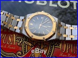 Vintage Audemars Piguet Royal Oak 18k 750 Yellow Gold/steel Quartz Mint