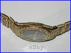 Womens Audemars Piguet Royal Oak 18k Gold Diamonds Everywhere